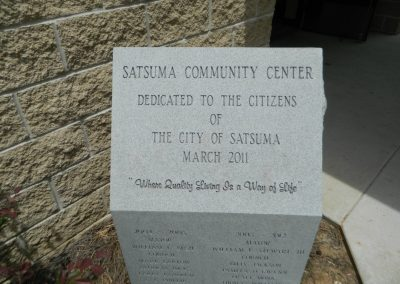 Community Center plaque